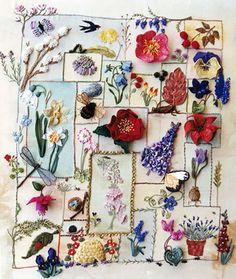 beautiful sampler by Jennifer Bee #embroidery