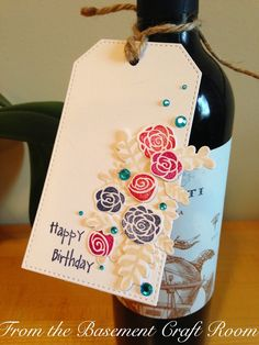 From the Basement Craft Room: Birthday Tag (Penelope's Blossoms- Lawn Fawn)