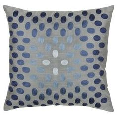 Bring a sense of elegance to your indoor or outdoor space with the unexpected sophistication found in the Rizzy Home Dots Square Throw Pillow. This pillow features finely layered embroidered dots that will add charm to your space. Modern Throw Pillows, Blue Throw Pillows, Outdoor Throw Pillows, Accent Pillows, Decorative Throw Pillows, Floor Pillows, Decorative Accents, Pillow Set, Pillow Covers