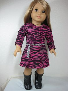 18 inch Doll Clothes American Girl Hot Pink and by nayasdesigns, $24.00