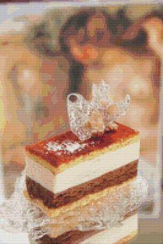 Chocolate Cake Cross Stitch Pattern by Mydreamsofavalon on Etsy, $6.00