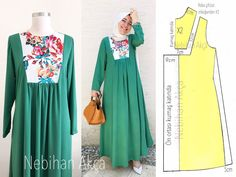 Robalı Dress Pattern Application – NEBİHAN AKÇA The clothing culture is very old. Possibly the oldest and uninterrupted cultural behavior … Casual Fall Outfits, Modest Outfits, Modest Fashion, Hijab Fashion, Womens Fashion Online, Latest Fashion For Women, Women's Dresses, Hijab Abaya, Abaya Pattern