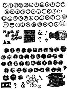 Junque Stamps. LOVE antique typewriters.