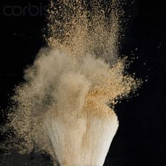 Powder shaking off of brush
