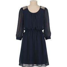 Chiffon Open Drape Back Dress (1.245 UYU) ❤ liked on Polyvore featuring dresses, beaded dress, chiffon drape dress, draped dress, draped cocktail dress and draped back cocktail dress