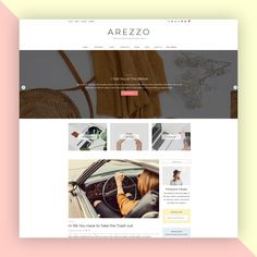 Show off your hard work and engage your audience with Arezzo, our latest blog WordPress theme crafted for bloggers, photographers, designers, and creatives alike. Arezzo will highlight your content beautifully and help you stand out among all the others. #websitedesign #wordpresstemplate #wordpresstheme #wordpresswebsite Corporate Blog, Blog Layout, Themes Themes, Website Themes, Wordpress Template, Social Media Icons, Best Wordpress Themes, Hard Work, Highlight