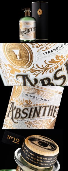 ABSINTHE NO.12: Every year we send out a stunning, limited edition holiday gift. In 2010 we resurrected the glory days of Absinthe and created a bespoke single batch of only 250 bottles for our 12th in the series. (Packaging design by Stranger & Stranger)