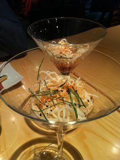 Aperitivo. Soba fría. Menú degustación #Uasabi #Zaragoza - #japanfood #restauranteszgz #rutadelmichelin #Japonés #Nikkei