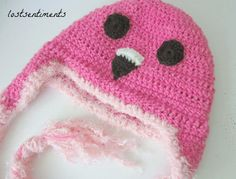 Free Crochet Pattern for Adult Flamingo Hat with Earflaps