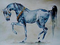 Mr Perfect by dashket Arabian Art, Arabian Horses, Tennessee Walking Horse, Horse Sketch, Horse Face, Horse Drawings, Equine Art, Beautiful Paintings, Moose Art