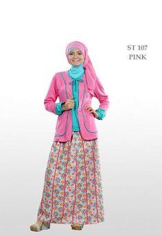 Baju Muslim Wanita Ethica Stelan ST-107 Pink