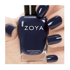 Shop for Zoya Nail Polish the longest wearing, natural nail polish available. Zoya Nail Polish is toluene, formaldehyde, DBP and Camphor Free. Over 300 Healthy Nail Polish Shades Available. Navy Blue Nail Polish, Navy Blue Nails, Zoya Nail Polish, Nail Polish Colors, Nail Polishes, Healthy Nail Polish, Natural Nail Polish, Healthy Nails, Love Nails