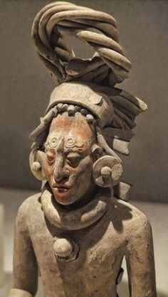 Closeup of a Figure of a Standing Warrior late Classic Maya Jaina style Campeche or Yucatan Mexico CE Ceramic with pigment Art Institute of Chicago Aztec Art, Mesoamerican, Mayan Ruins, Art Institute Of Chicago, Ancient Art, Art And Architecture, American Art, Mexico, Beautiful