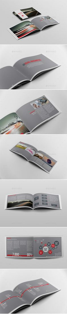 Business Report Brochure Template — InDesign INDD #agency #landscape • Available here → https://graphicriver.net/item/halfletter-business-brochure-template/3212357?ref=pxcr