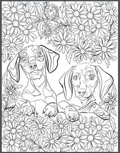 De-stress With Dogs: Downloadable 10 Page Coloring Book for Adults Who Love Dogs – Print Instantly