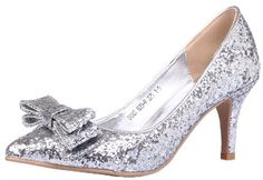 Honeystore Women's Sequins with Bows Fabric Pump Silver 8.5 B(M) US Honeystore,http://www.amazon.com/dp/B00EDJQL7A/ref=cm_sw_r_pi_dp_pp-zsb08XSS1YS6E