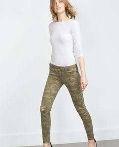 Mujer Pantalones Zara Camuflaje Tjlkuf1c3 De Para QBdExorCeW