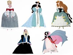Princesses by Mary Blair