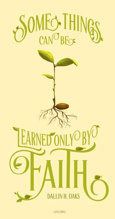"""""""Some things can be learned only by faith.""""—Dallin H. Oaks #LDS"""