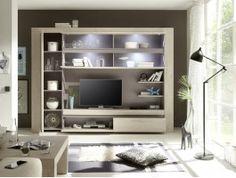 meuble tv mural design lumineux elisa | tvs, murals and http://www ... - Meuble Tele Mural Design