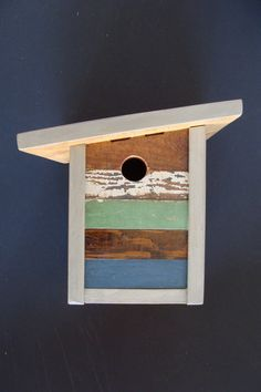 Artistic modern birdhouse handcrafted from reclaimed by Bubirds, $75.00 on Etsy
