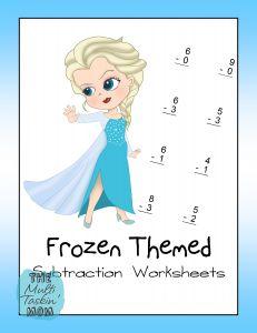 FREE Frozen Math Worksheet Pack {addition, subtraction, multiplication}