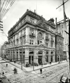 Cotton Exchange, New Orleans 1900. Such architecture!