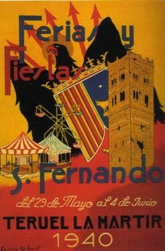 Cartel Fiestas Teruel año 1940