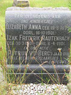 Heilbron - hulle het as martelaars gesterf. Two siblings and cousin in one grave.