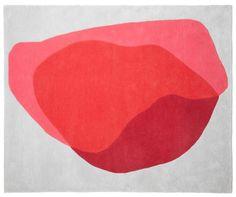 Tapis Jane / 220 x 180 cm Rouge, Gris clair - Hartô