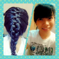 Hair braid in two hours break with nothing to do.