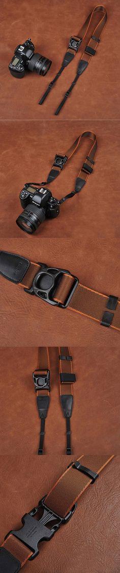 Ninja Style Coffee Sony Nikon Canon Handmade Leather Camera Strap 8826 by i-cam