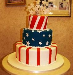 patriotic cake decorating ideas   Then there is the food....imagine the possibilities....