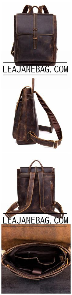 LEATHER BACKPACK - Handmade Leather Backpack from Full Grain Leather MS060