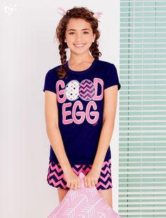 We are EGGstra excited about these adorable pjs!
