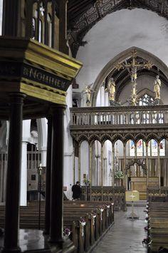 Eye church, Suffolk  Ninian Comper rood screen