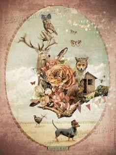 Wondere Wereld poster met gedicht   -- Posters met gedichten   Kaartje of Kip