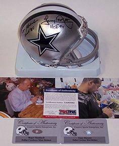 b990b0fcd Tony Dorsett and Roger Staubach Dallas Cowboys Autographed Inscribed Mini  Helmet AMHDCDORSTAHOFPSA     Learn