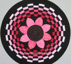 Pink paint strip challenge quilt by Carie Shields | Sew Now What. Made with the Amazing Rays tool by Renae Haddadin.