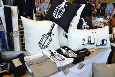 Country romantic style with twist. Lovely decoration textiles from Tarja Ritari Design.