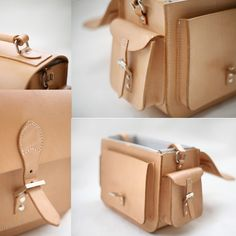 Leather Camera Bag - Nature