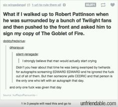 I will do this. Even robert hates twilight.