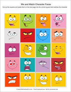 Mix and Match Character Faces Activity for Kids http://www.kidscanhavefun.com/cut-paste-activities.htm #kidsactivities #justforkids #cutandpaste