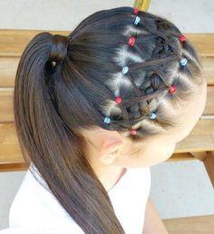 Peinados de nina con el cabello recogido