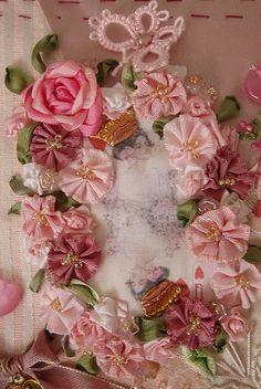 229 best creative ideas ribbon work images fabric flowers ribbon rh pinterest com