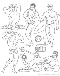 BEEFCAKE BEACH - Embroidery Patterns