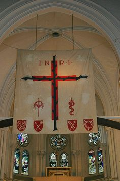 LENTEN ROOD HOOD. Percy Dearmer, the author of the Parson's Handbook, was vicar of St Mary's Primrose Hill in Hampstead, so it is no surprise that this glorious church has a full set of Lenten Array.