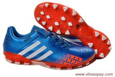 Adidas Predator Lethal Zones II AG For David Beckhams Retirement Game 2013 Blue Red For Sale