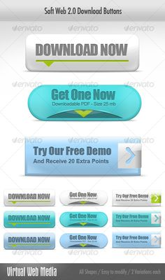 Soft Web 2.0 Download Buttons
