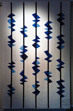 """Fantastic """"Hunky Dory # 2"""" quilt by Anita Fors of Tactile Textile."""